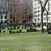 Photo taken at Granary Burying Ground by Al S. on 2/11/2012
