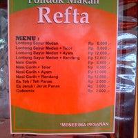 """Photo taken at Pondok Makan """"REFTA"""" cabang babarsari by Lady D. on 2/26/2012"""