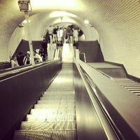 Photo taken at Metro Rossio [VD] by Sónia F. on 7/1/2012
