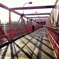 Photo taken at Williamsburg Bridge Pedestrian & Bike Path by Laura H. on 3/30/2012