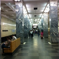 Photo taken at metro Sokolniki by Sasha N. on 5/29/2012