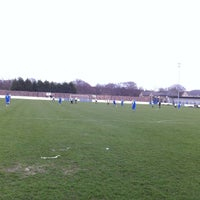 Photo taken at Silverlands (Buxton FC) by Mark M. on 3/17/2012