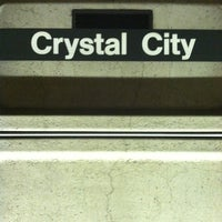 Photo taken at Crystal City Metro Station by Bill on 3/30/2012