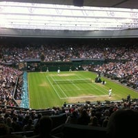 Photo taken at The All England Lawn Tennis Club by ESPN on 7/6/2012