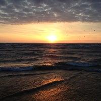 Photo taken at Clark Street Beach by Per J. on 3/27/2012