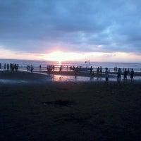 Photo taken at Pantai Barat Pangandaran by Althaf A. on 8/22/2012