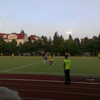 Photo taken at Sportplatz Schildhornstraße by Olaf S. on 8/17/2012