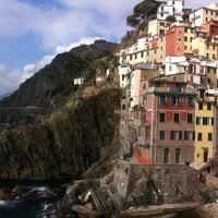 Photo taken at Spiaggia di Riomaggiore by BALIAN c. on 3/3/2012