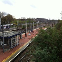 Photo taken at Alexandra Palace Railway Station (AAP) by Corin H. on 4/27/2012