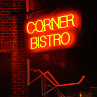 Photo taken at Corner Bistro by Party Earth on 4/4/2012