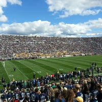 Photo taken at Notre Dame Stadium by Brendan M. on 9/8/2012