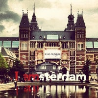 Photo taken at Museumplein by Guilherme R. on 8/30/2012