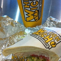 Photo taken at Which Wich? Superior Sandwiches by Nicole H. on 8/15/2012
