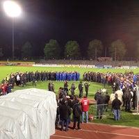 Photo taken at Stadio Comunale, Bellinzona by Chiara G. on 4/9/2012