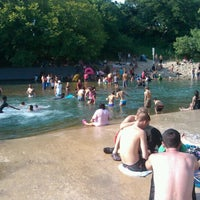 Photo taken at Barton Springs Spillway by Mike O. on 6/24/2012