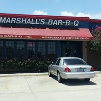 Photo taken at Marshall's Bar-B-Q by Charles G. on 6/21/2012