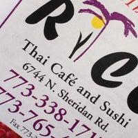 Photo taken at Rice Thai Cafe by Chris G. on 4/8/2012