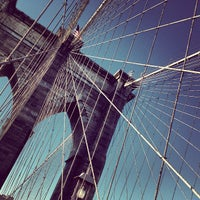 Photo taken at Under The Brooklyn Bridge by Andrea Z. on 2/27/2012