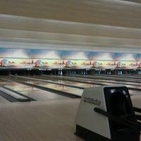 Photo taken at Buffaloe Lanes North Bowling Center by Derron M. on 5/9/2012