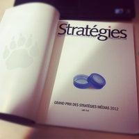 Photo taken at Stratégies by Rassem B. on 6/14/2012