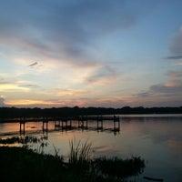 Photo taken at White Rock Lake by Elina Ji E. on 8/27/2012