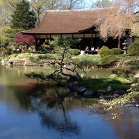 Photo taken at Shofuso Japanese House and Garden by Juan V. on 4/7/2012