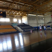Photo taken at Xavier School Wooden Court by Rica  V. on 4/21/2012