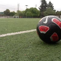 Photo taken at Griffith Park - Artificial Turf Soccer Field by Daniel L. on 3/17/2012