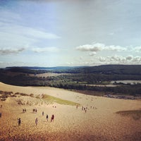 Photo taken at Dune Climb - Sleeping Bear Dunes by Matt J. on 8/8/2012