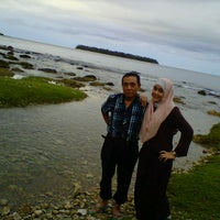 Photo taken at Sembilan beach by febrina l. on 9/13/2012