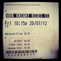 Photo taken at Galaxy Cinemas Lethbridge by Zac E. on 7/18/2012