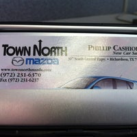 Photo taken at Town North Mazda by Jason D. on 8/11/2012