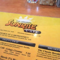 Photo taken at Original Sunrise Cafe by Robert S. on 4/6/2012