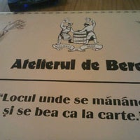 Photo taken at Atelierul de Bere by Catalin B. on 3/16/2012