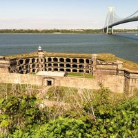 Photo taken at Fort Wadsworth by Erin S. on 5/6/2012