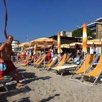 """Photo taken at Spiaggia delle Fornaci by Andrea """"Axell"""" T. on 8/19/2012"""