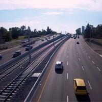 Photo taken at Bow Trail Pedestrian Overpass by Igo (@igotan) T. on 8/9/2012