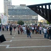 Photo taken at Rabin Square by Didi C. on 5/12/2012