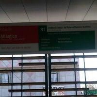 Photo taken at Transmetro Estación Atlántico by Nicolás O. on 3/3/2012