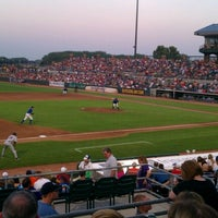 Photo taken at Principal Park by Jacob M. on 8/4/2012