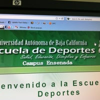 Photo taken at UABC Facultad de Deportes by Octavio L. on 4/27/2012