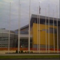 Photo taken at Olimpiskais sporta centrs (pludmales volejbola laukums) by Hardijs V. on 6/5/2012