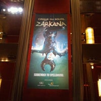 Photo taken at Zarkana by Cirque du Soleil by Adrienne on 8/29/2012