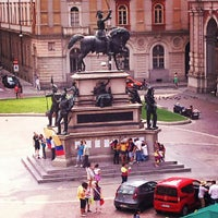 Photo taken at Piazza Carlo Alberto by renzo g. on 7/20/2012