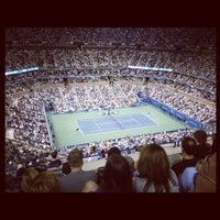 Photo taken at Arthur Ashe Stadium by Katrina D. on 8/31/2012