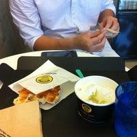 Photo taken at Waffle Bant by Midori K. on 8/17/2012