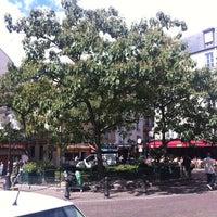 Photo taken at Place de la Contrescarpe by martin p. on 8/25/2012