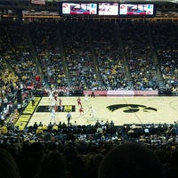 Photo taken at Carver-Hawkeye Arena by Lucas I. on 2/24/2012
