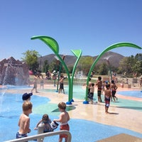 Photo taken at Lake Skinner Splash Pad by Kelly on 6/13/2012