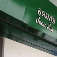 Photo taken at BTS Udom Suk (E12) by monday O. on 3/31/2012